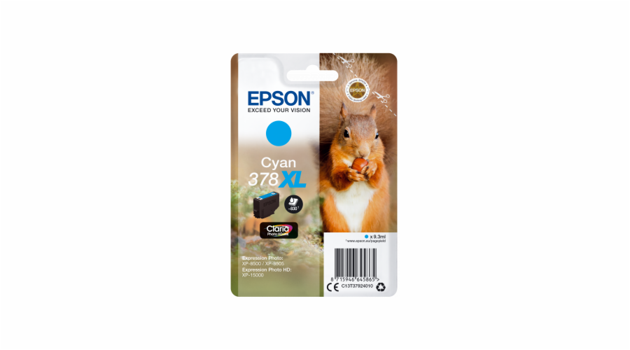 Epson ink cartridge cyan Claria Photo HD 378 XL T 3792