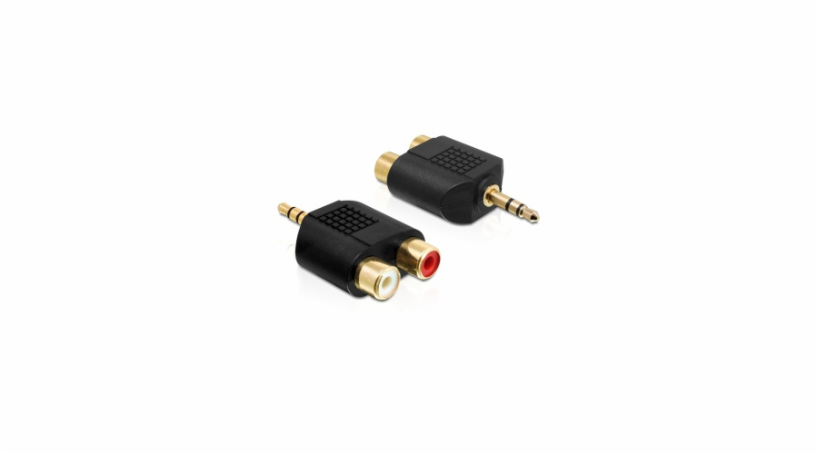 Delock audio adaptér stereo jack 3.5 mm 3 pin samec > 2 x RCA (CINCH) samice