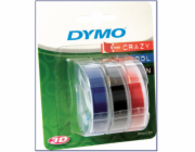3x1 Dymo Embossing Labels Multi-Pack 9mm (red/blue/black)