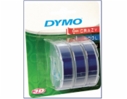 1x3 Dymo Embossing Labels 9mm blue
