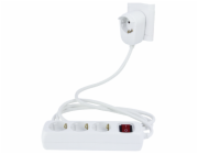 REV Multiple Socket Powersplit 2m 3+1-fold with switch white