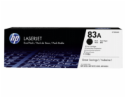 HP Toner CF 283 AD black No. 83 A        Twin Pack
